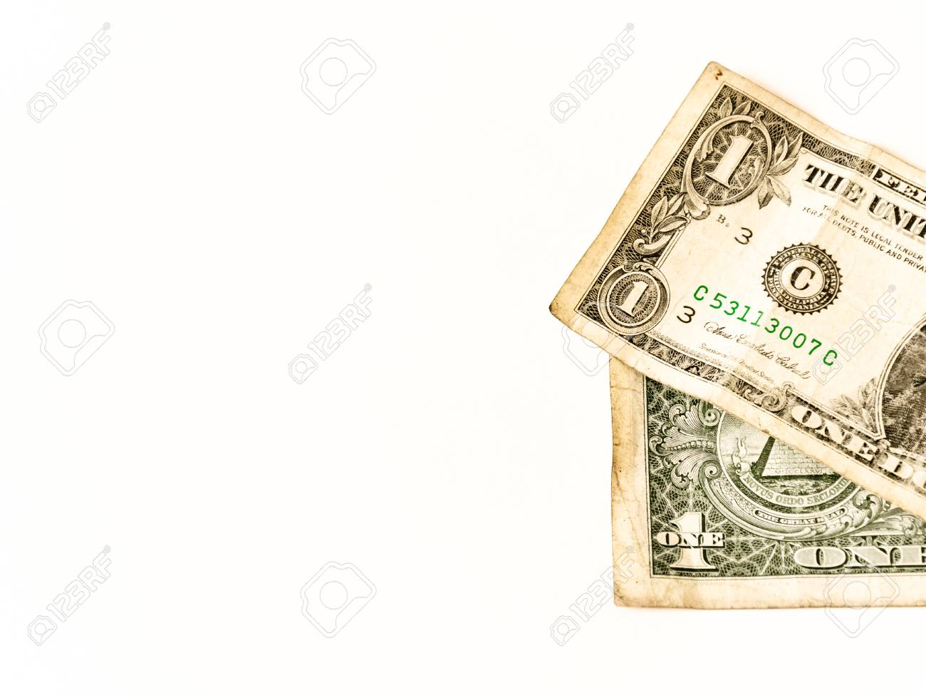 Two usa dollars lay over white business symbol for whealth and two usa dollars lay over white business symbol for whealth and gain over white buycottarizona Gallery