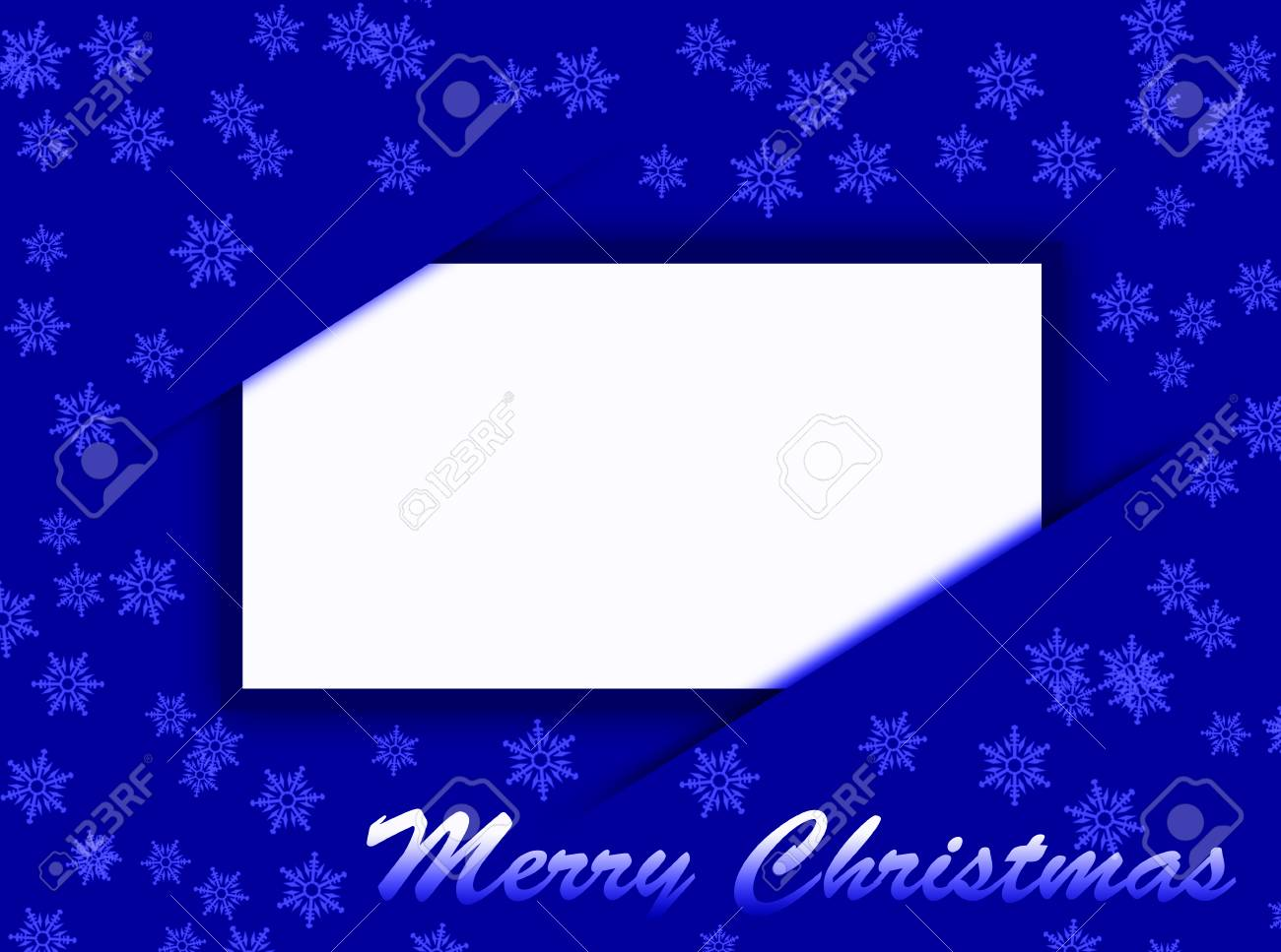 Weihnachtskarten Blau.Stock Photo