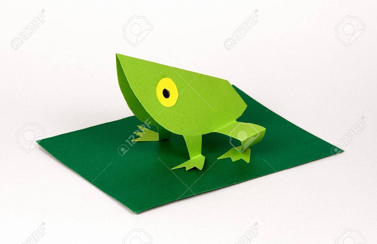 A frog made with paperorigami stock photo picture and royalty a frog made with paperorigami stock photo 5542256 jeuxipadfo Images
