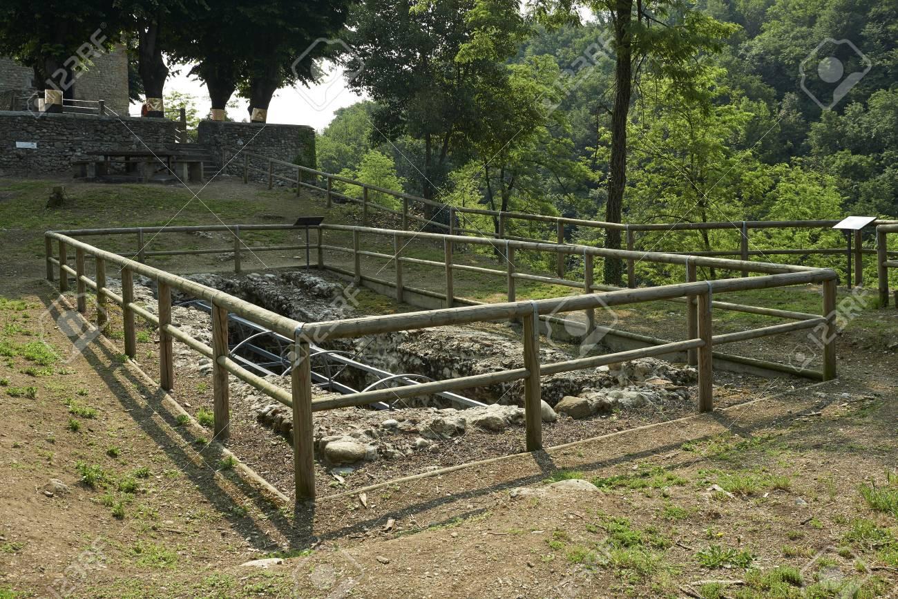porto d'adda (monza), italien, den römischen zisterne das