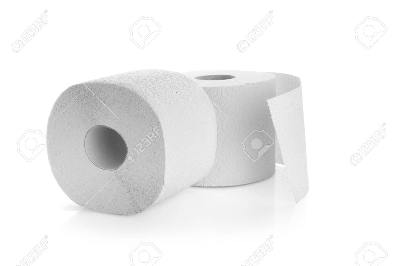 Rotoli Di Carta Igienica : Due rotoli di carta igienica isolato su uno sfondo bianco foto