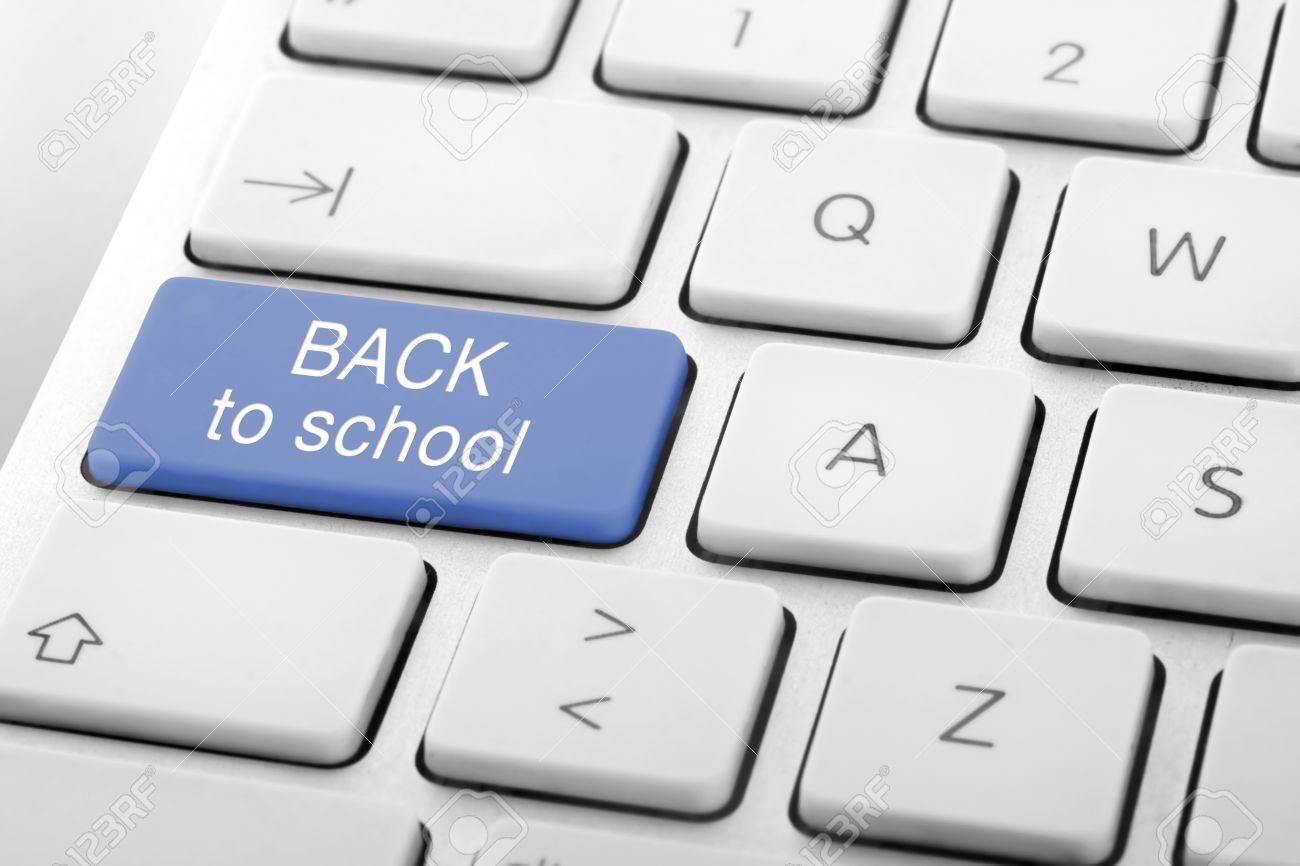 Wording Back to School on computer keyboard Stock Photo - 13629455