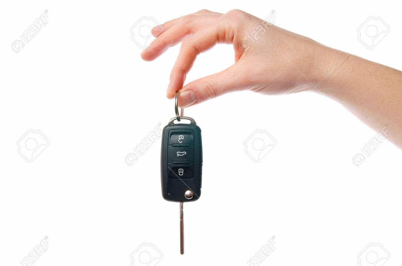 Hand with Car Key - 11967414