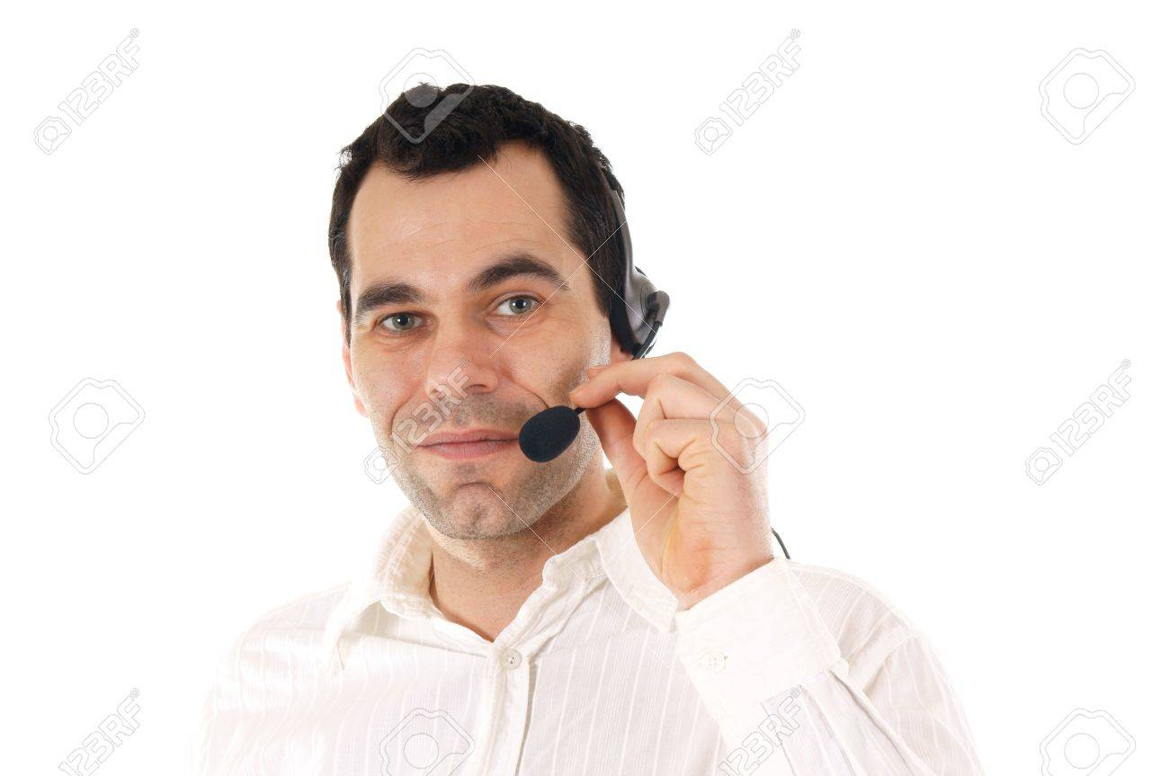 Man with headphone Stock Photo - 12673803
