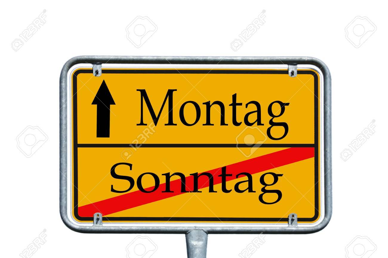 sign with the german words monday and sunday Stock Photo - 14090048