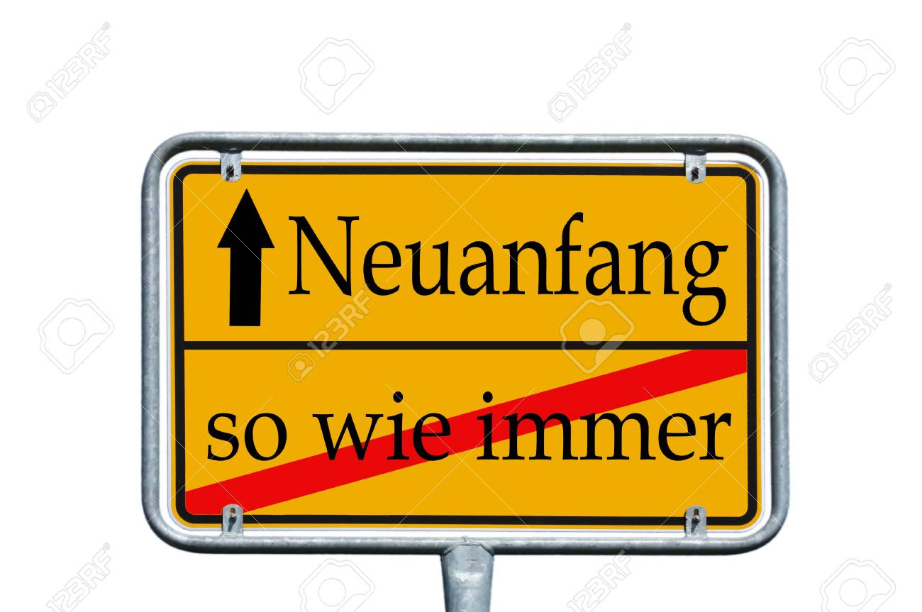 sign with the german word Frash Start Stock Photo - 14090096