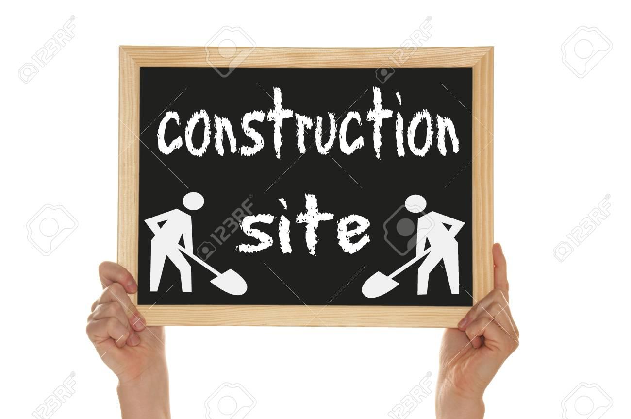 blackboard - construction site Stock Photo - 14090169