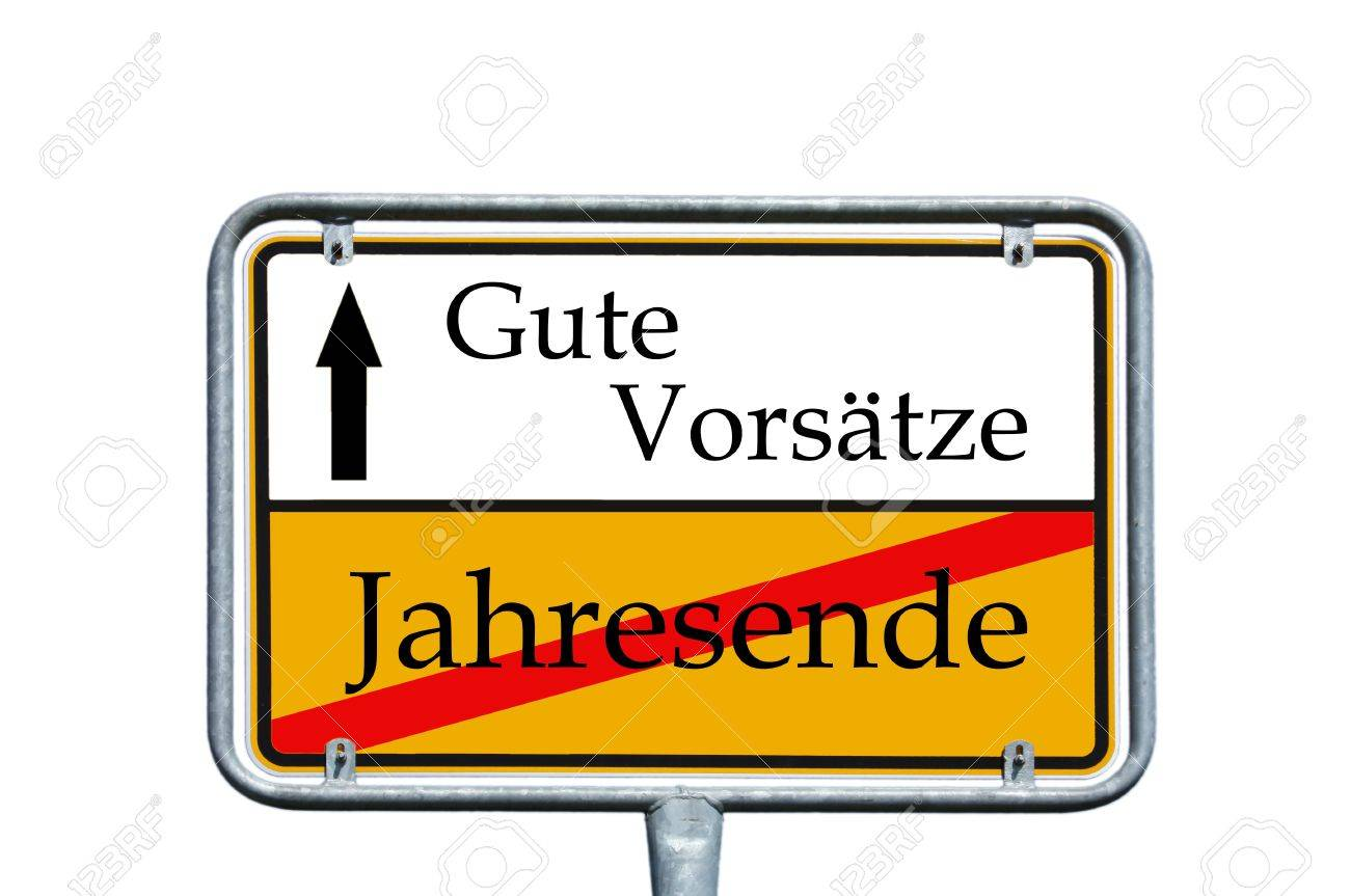 sign with the german words old year and good resolutions - 14494808
