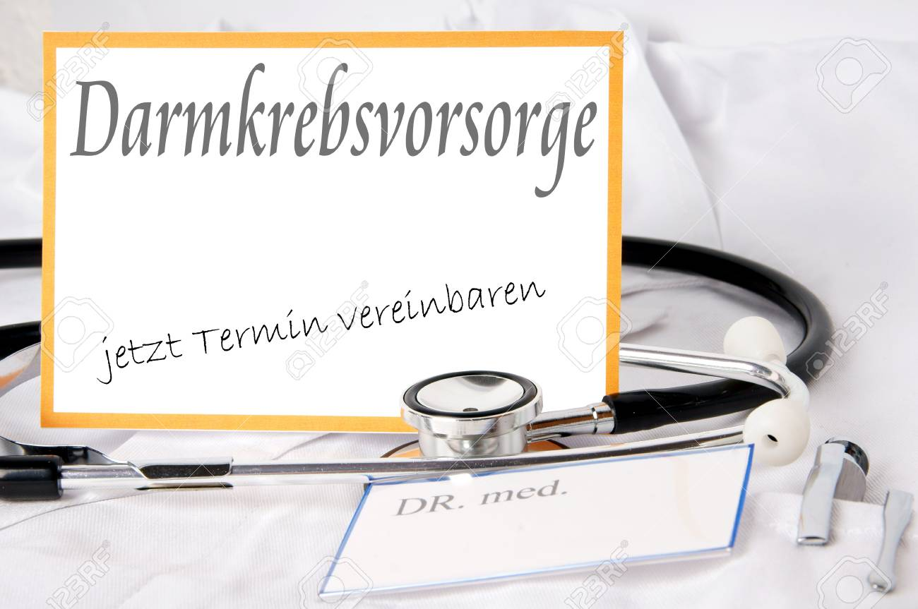 german Shield - screened for colorectal cancer Stock Photo - 16471440