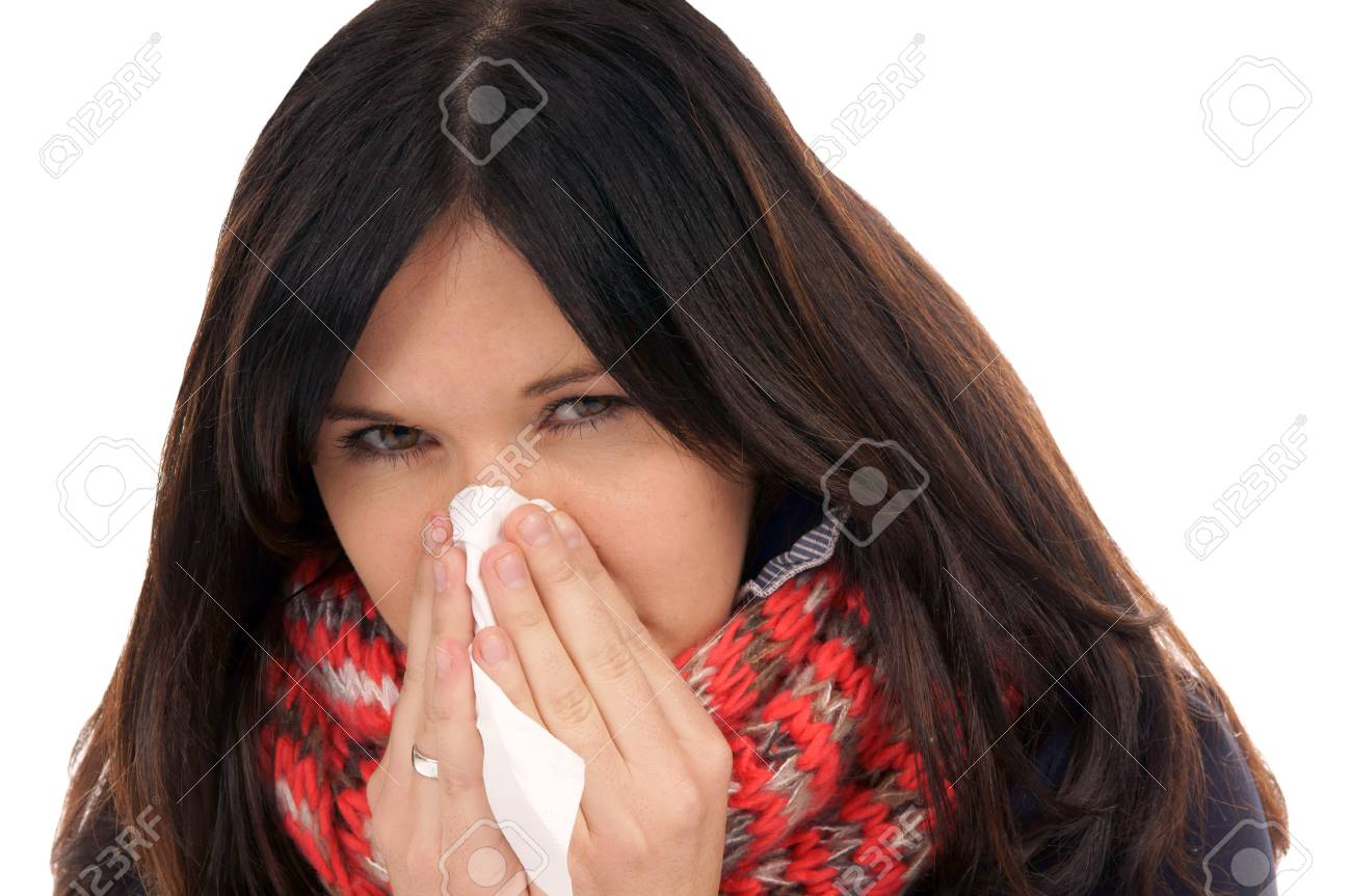 Woman with a cold Stock Photo - 17151407