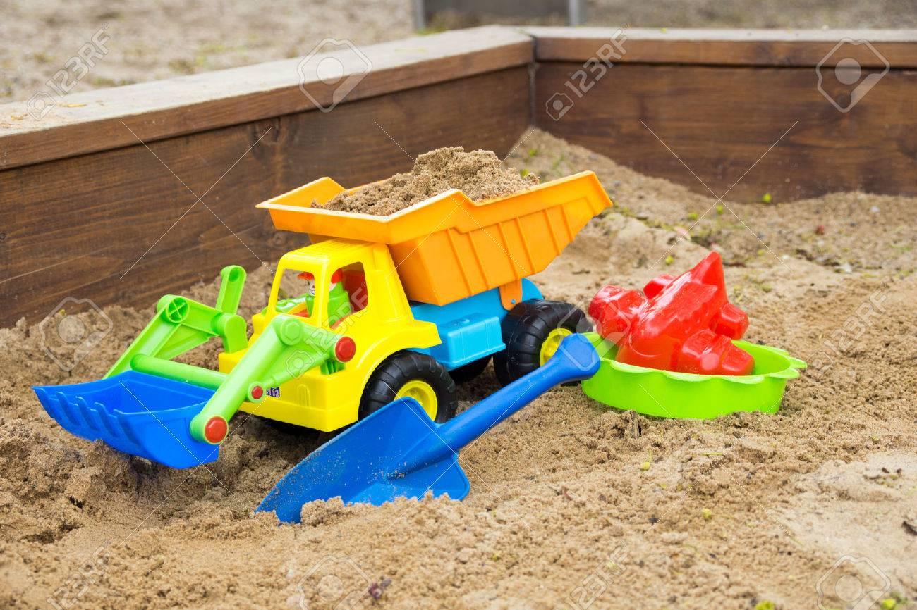 Sand toys in a sandbox - 40202319