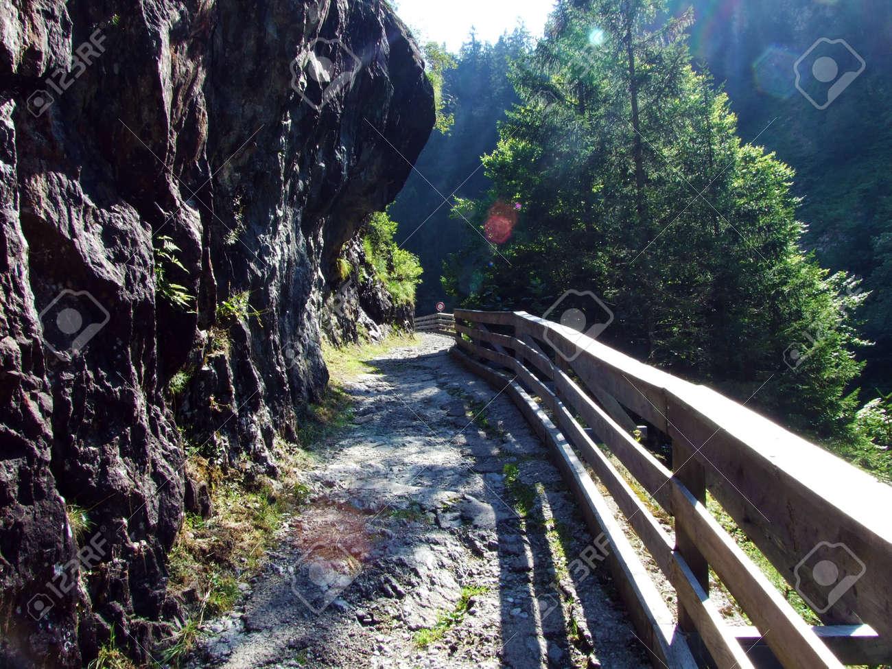 Stones and rocks in the Maderanertal alpine valley - Canton of Uri, Switzerland - 158089673
