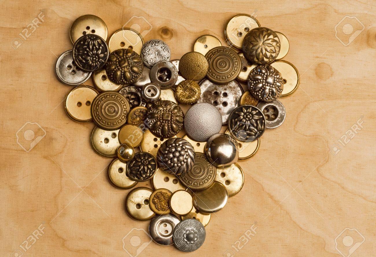 heart of sewing buttons Standard-Bild - 17180132