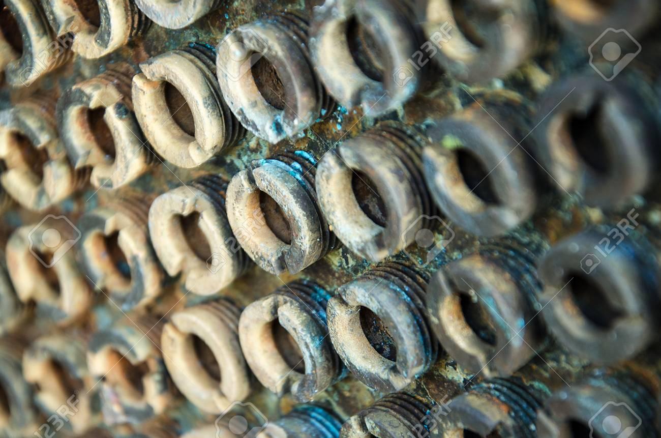 old rusty bolts Standard-Bild - 23482594