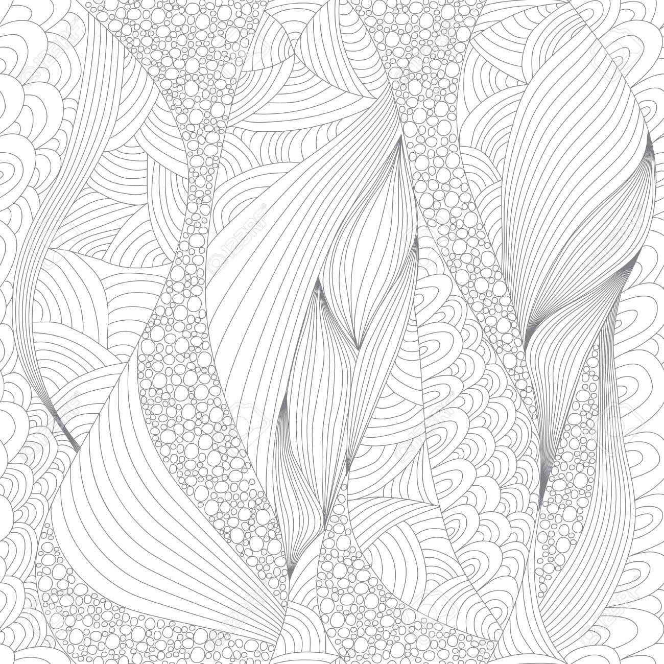 - Seamless Abstract Line Pattern. Art And Color Therapy. An Anti