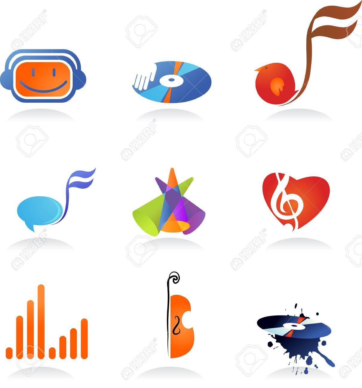 A set of music related icons and symbols Stock Photo - 6294299