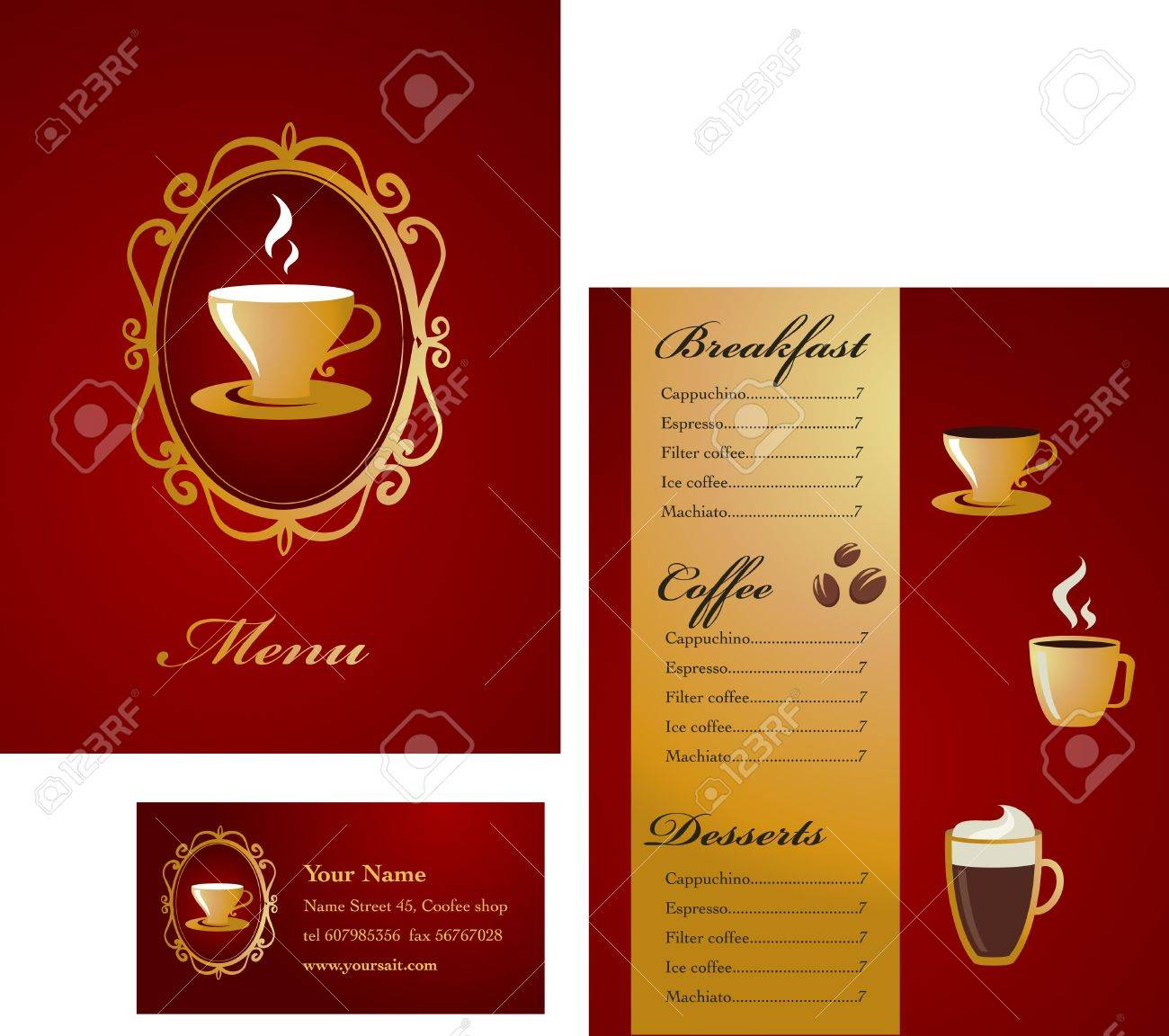 modern coffee menu template stock photo picture and royalty free