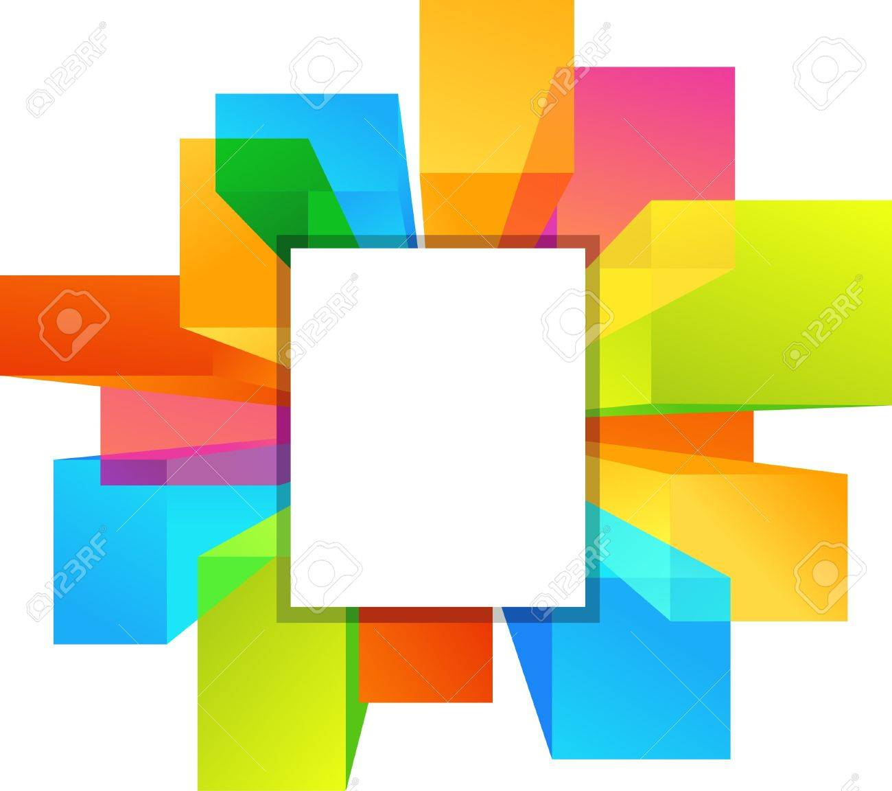 Colorful copyspace rectangular shapes Stock Vector - 7143404