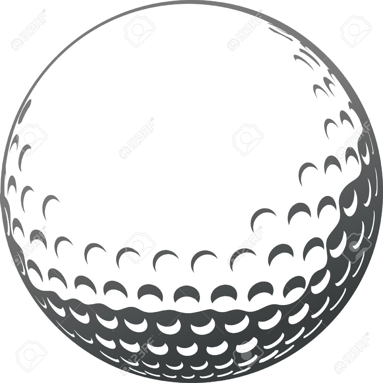 golf ball close up royalty free cliparts vectors and stock rh 123rf com Golf Ball Art Golf Ball Size