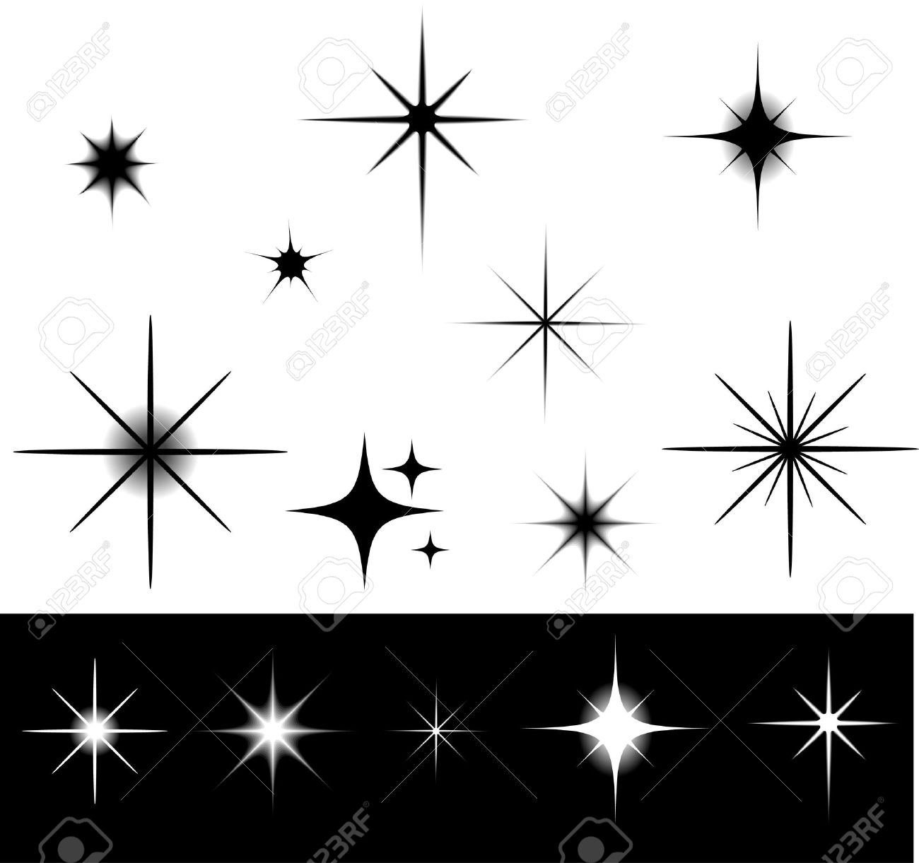 black and white stars royalty free cliparts vectors and stock rh 123rf com vector star speckle vector victor starsia