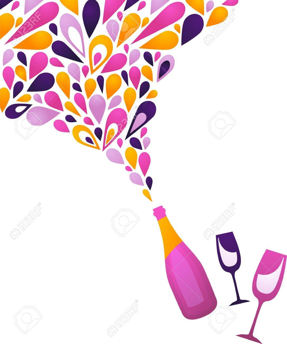 Funky clean white wine background - 7660948
