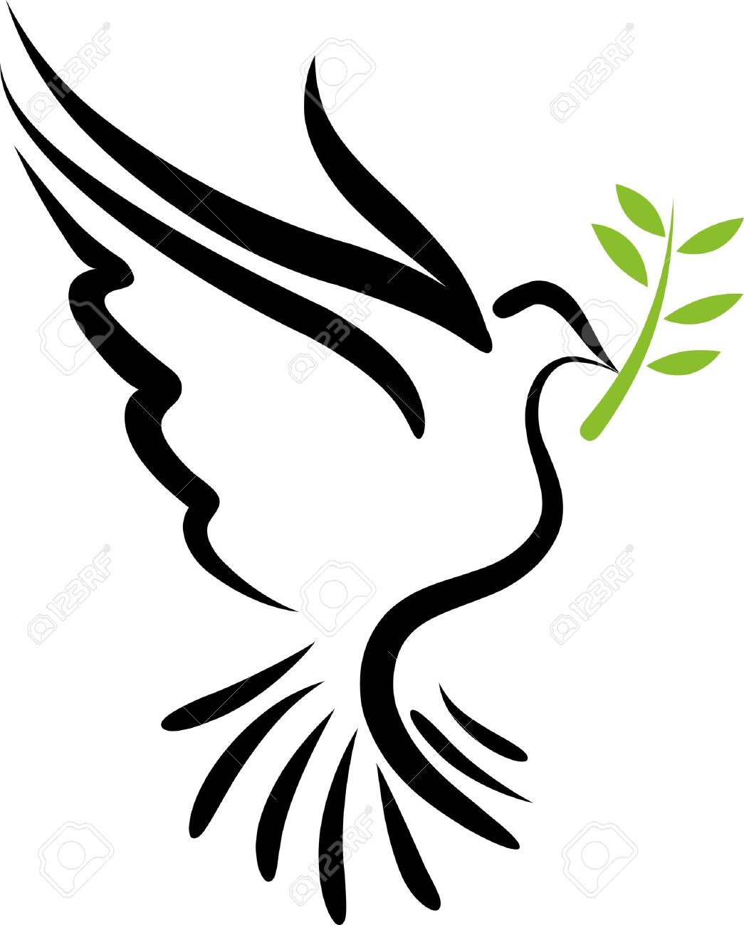 A free flying white dove symbol royalty free cliparts vectors a free flying white dove symbol stock vector 7977946 buycottarizona Choice Image
