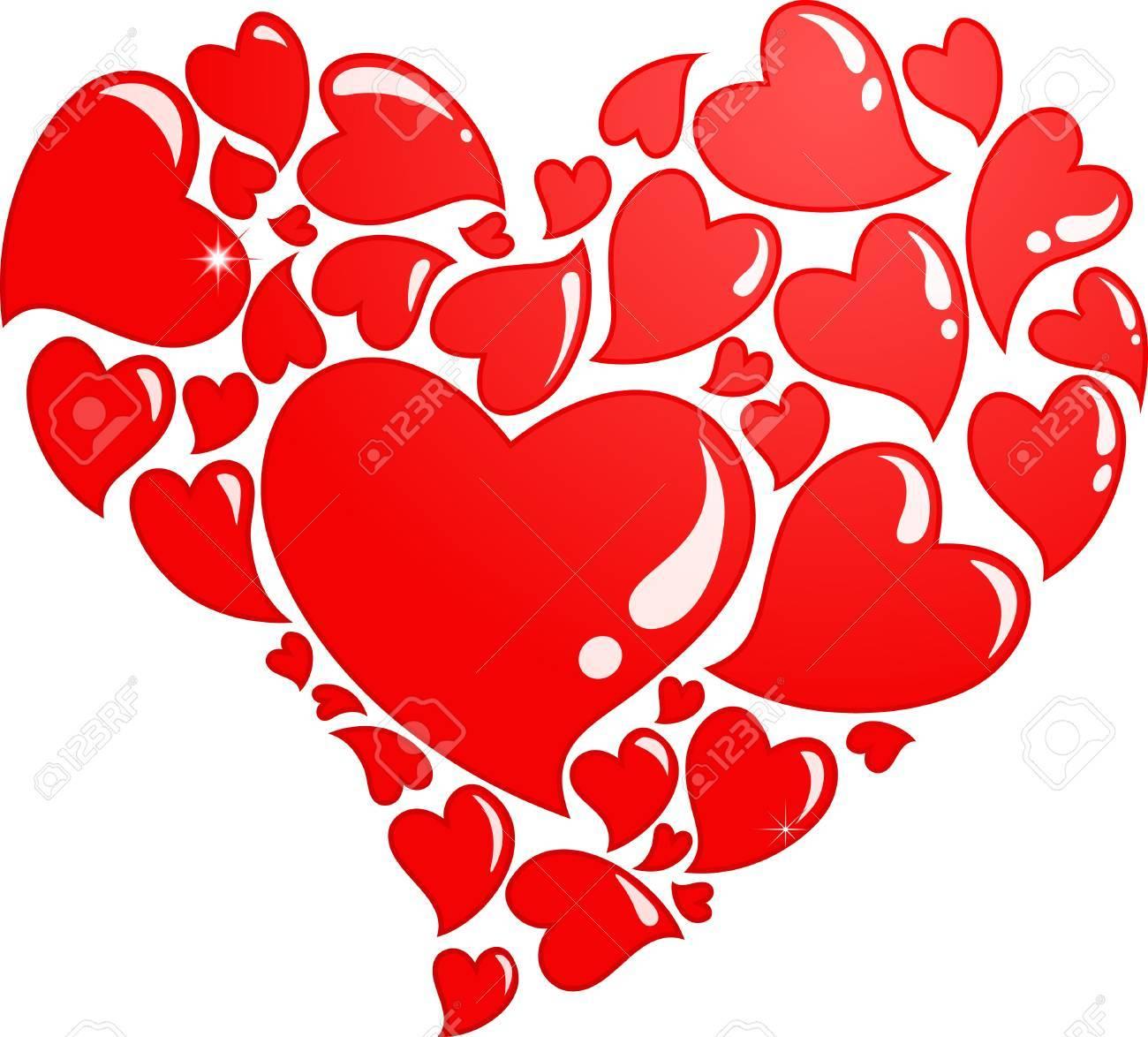 Heart composed of many hearts Stock Photo - 8679129