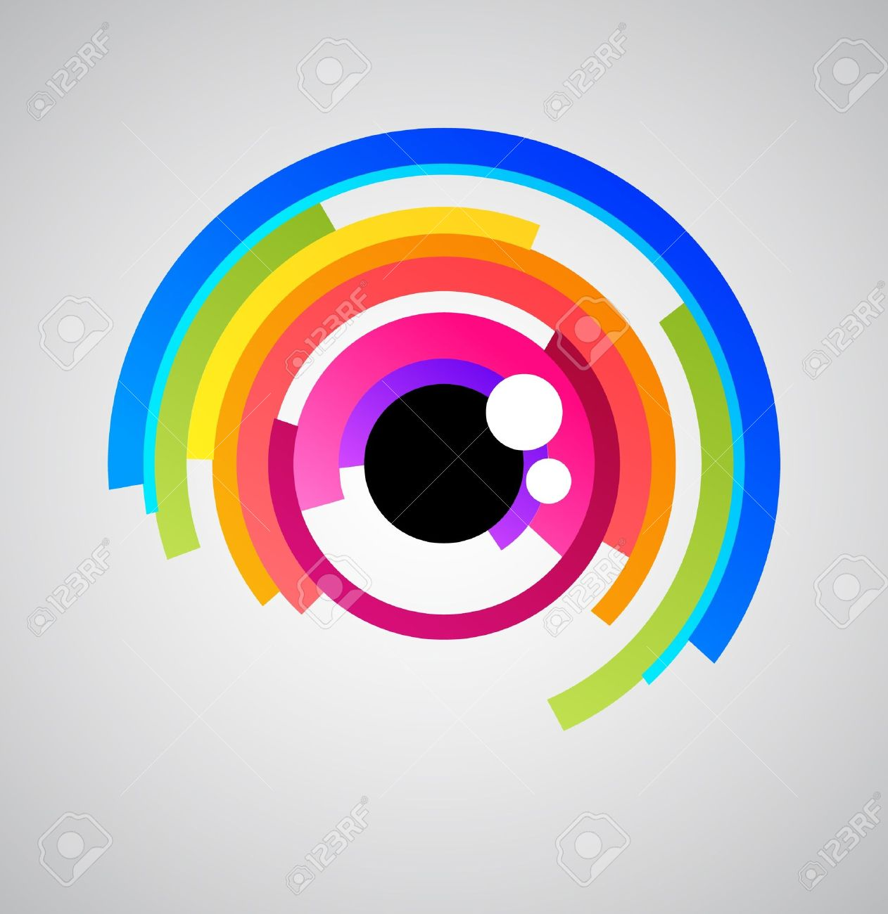 Abstract eye icon Stock Photo - 9103980