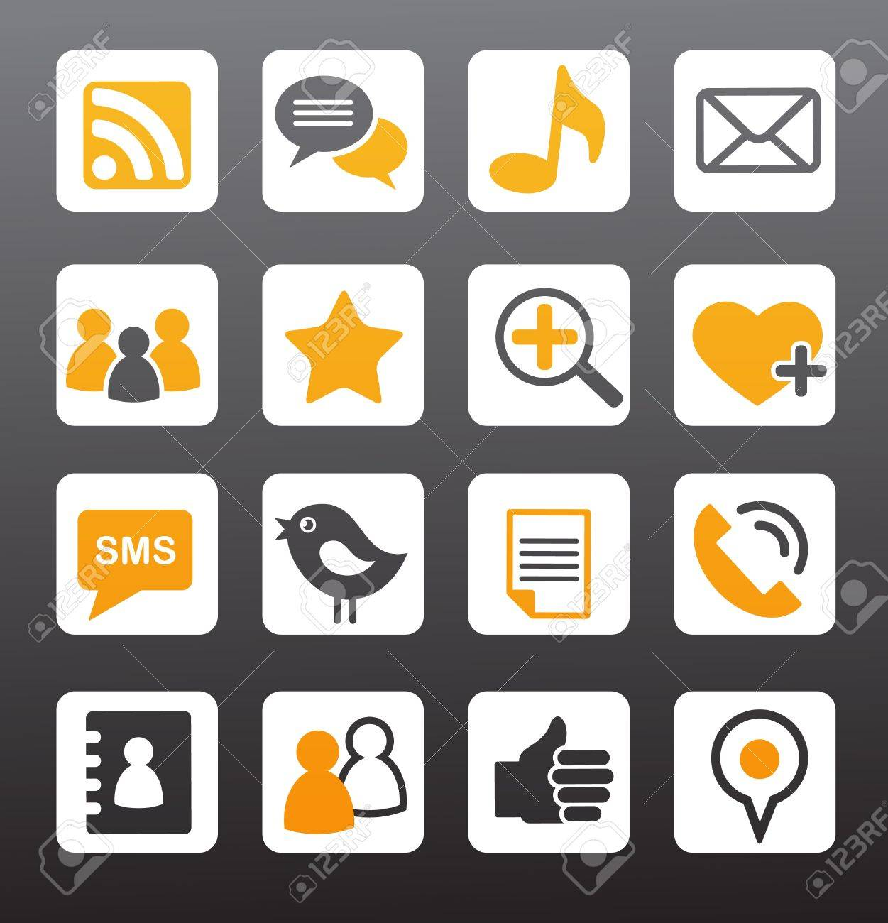 social network vector icons Stock Vector - 9639194