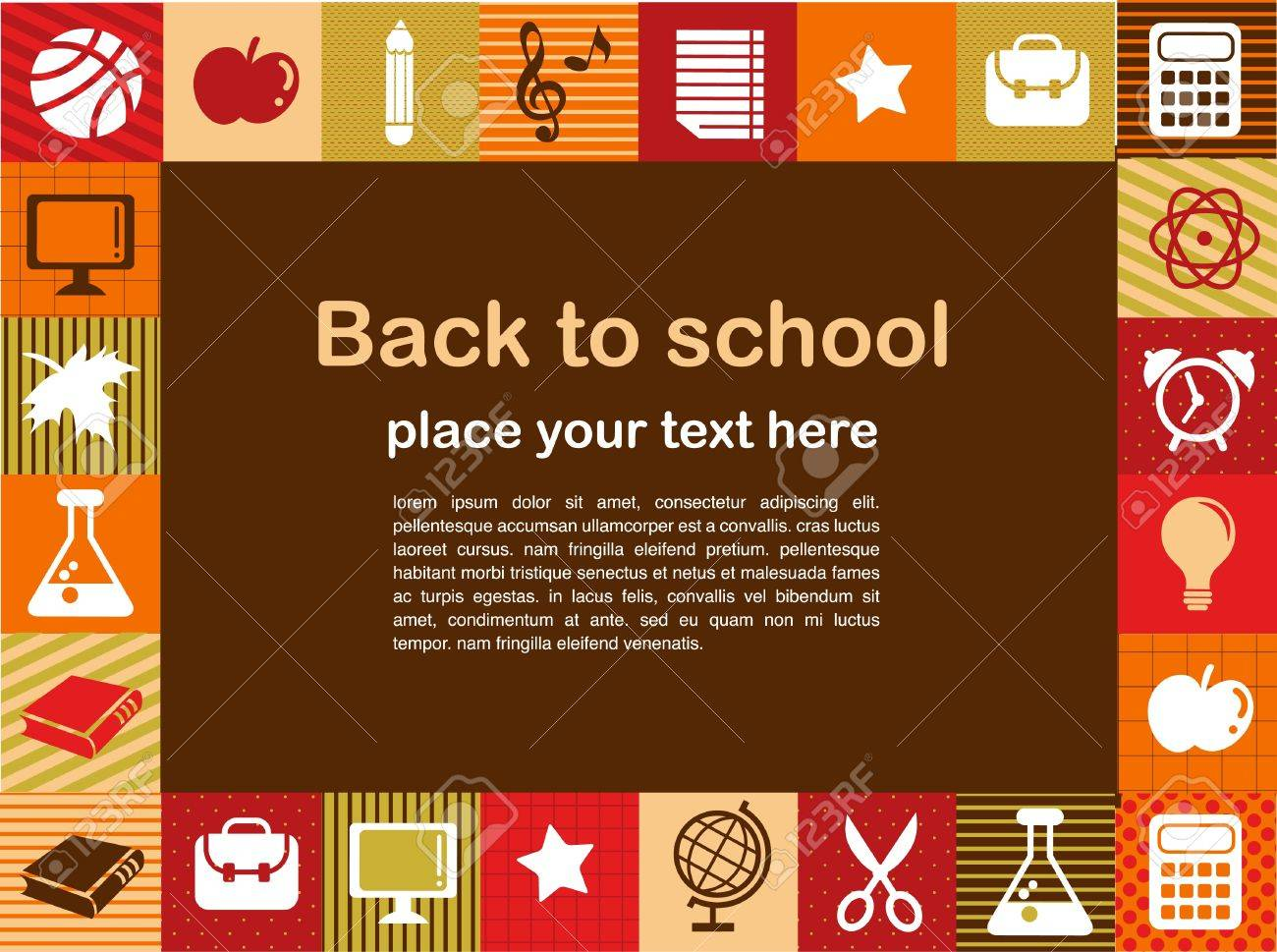 back to school - background with education icons - 9934700