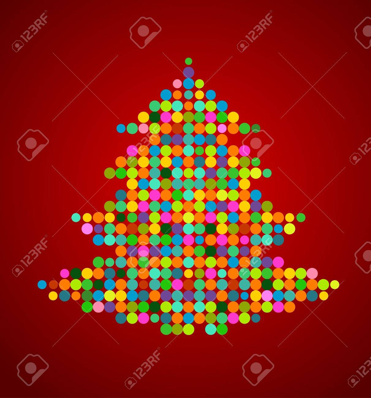 Xmas background images - Vector Xmas Background With Pixel Christmas Tree