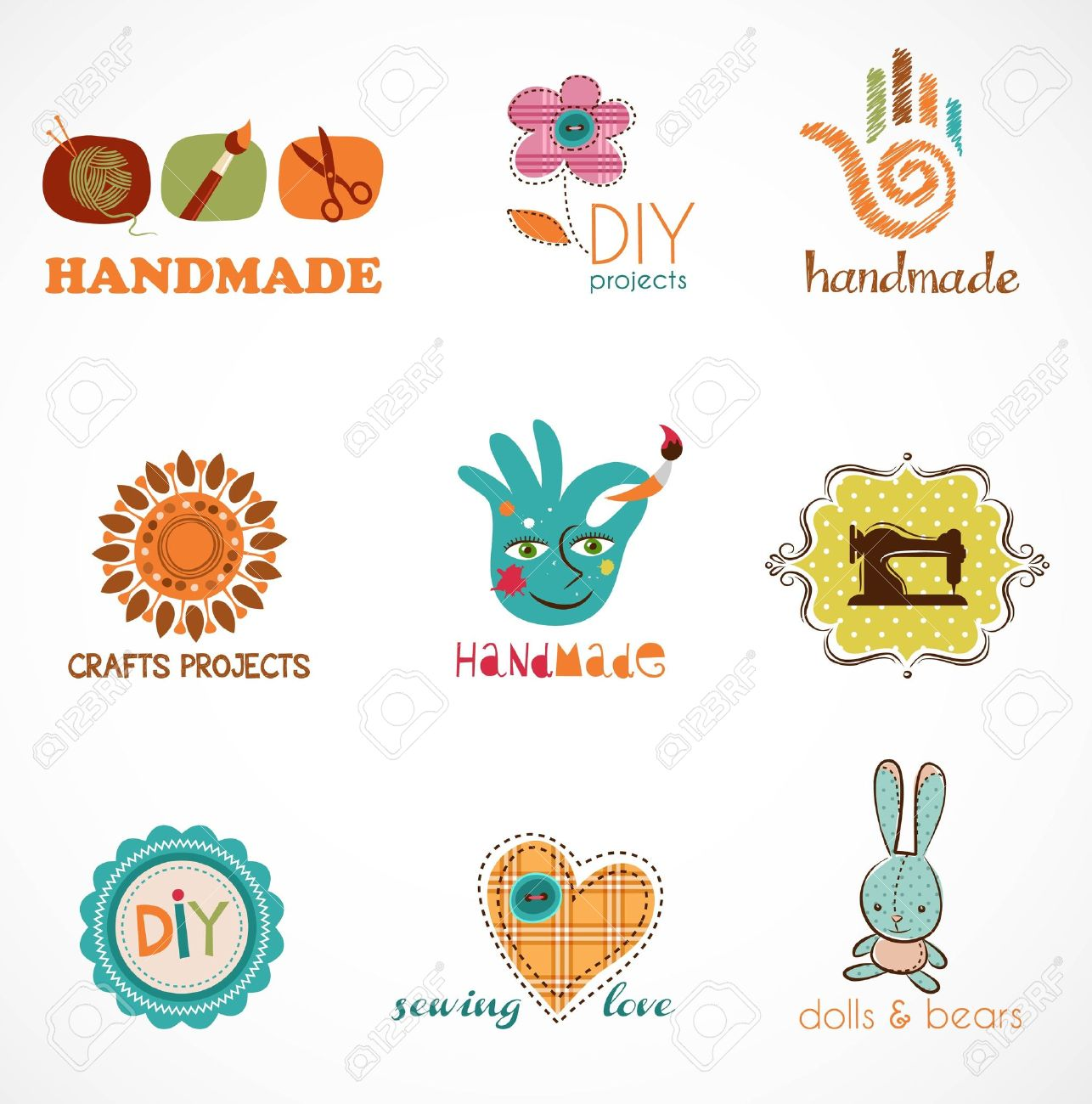Craft and do it yourself collection of icons royalty free cliparts craft and do it yourself collection of icons stock vector 12389089 solutioingenieria Gallery