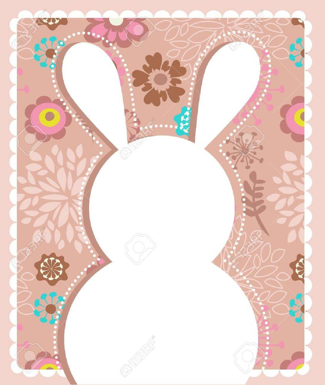 Easter greeting card with bunny Stock Vector - 12389091