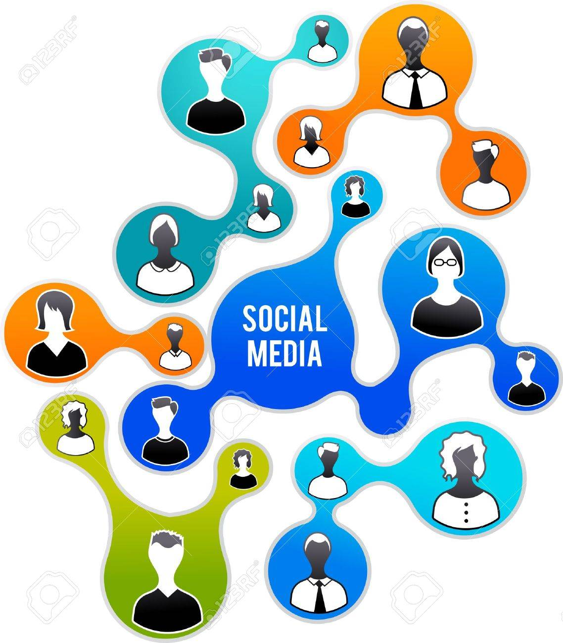 Social Media and network illustration Stock Vector - 12874791