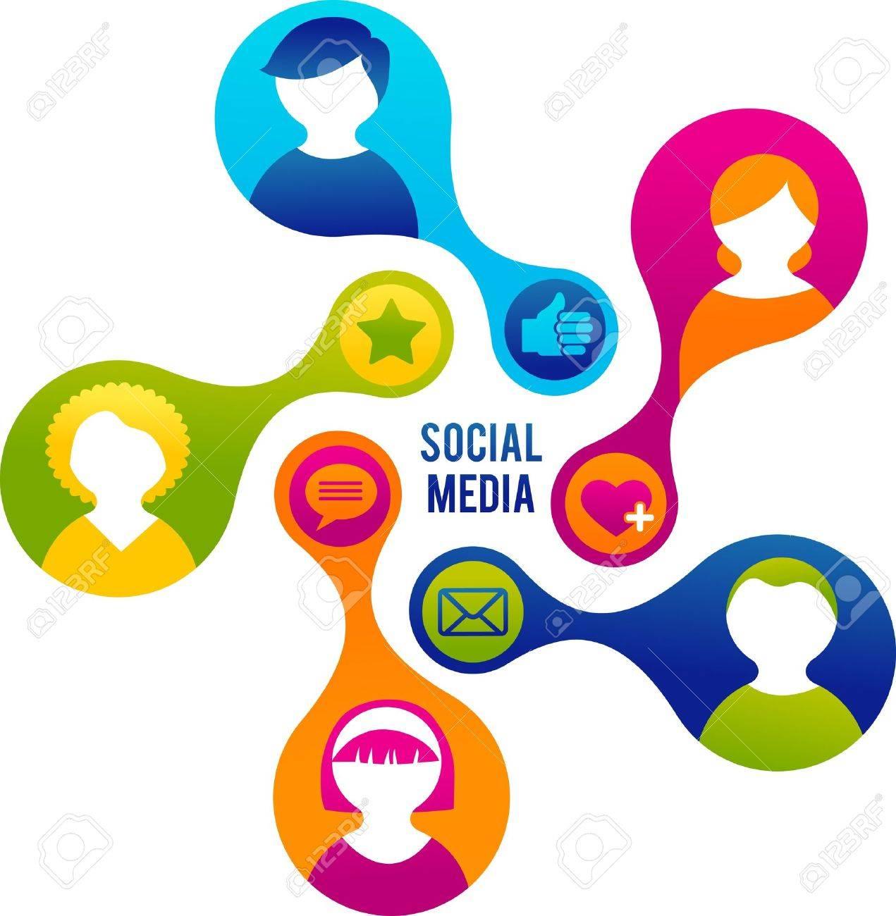 Social Media and network illustration - 12874774