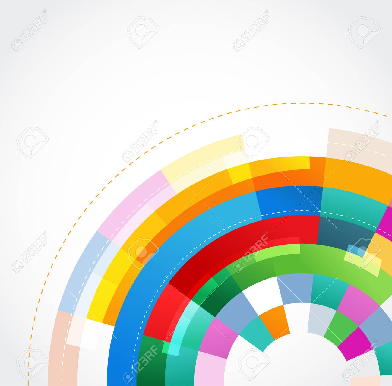 colorful abstract template Stock Vector - 13098656
