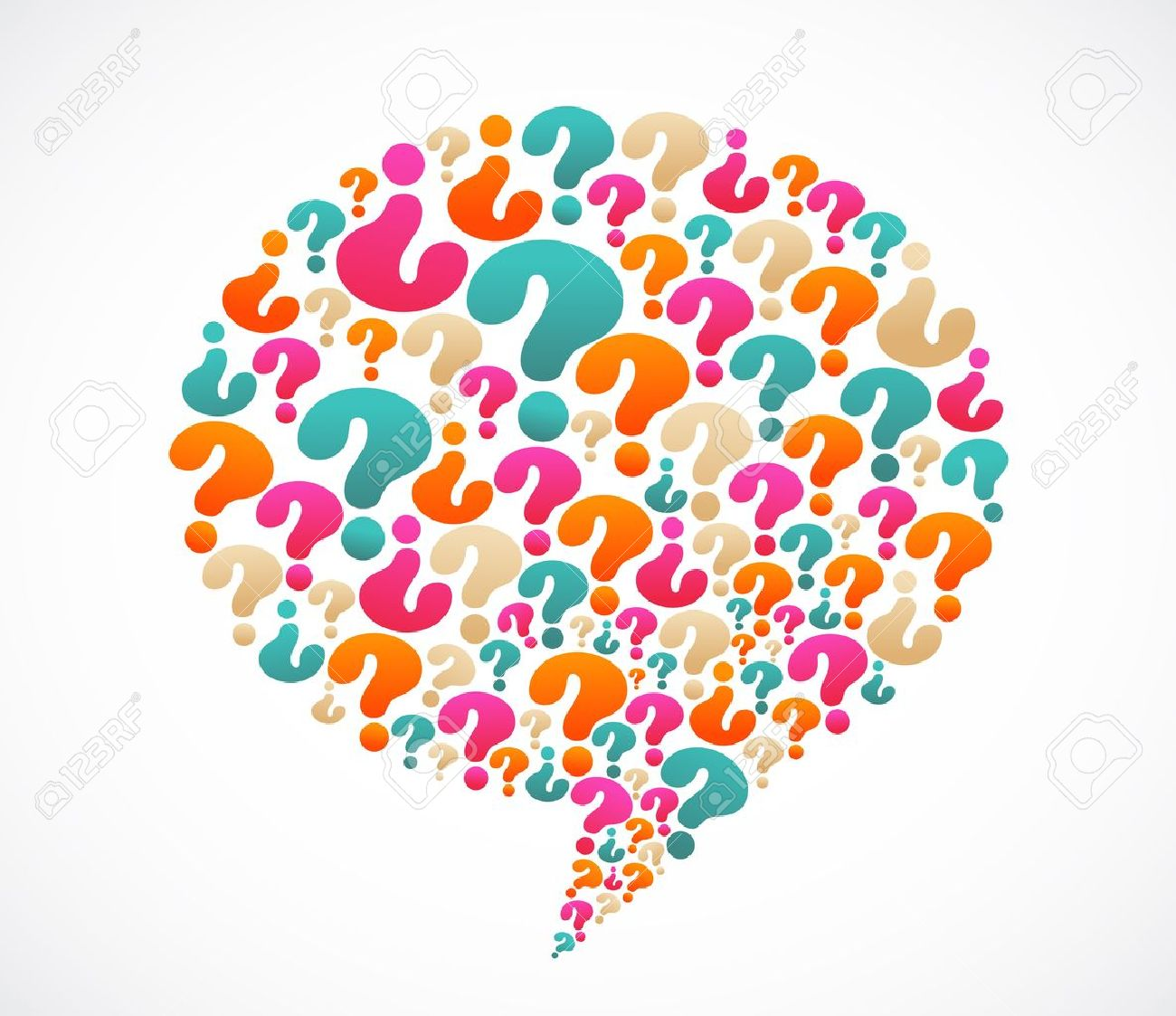 Speech bubble with question mark icons Stock Vector - 13955802