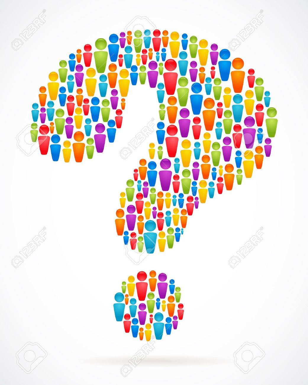Question Mark Vector Free Question Mark With People