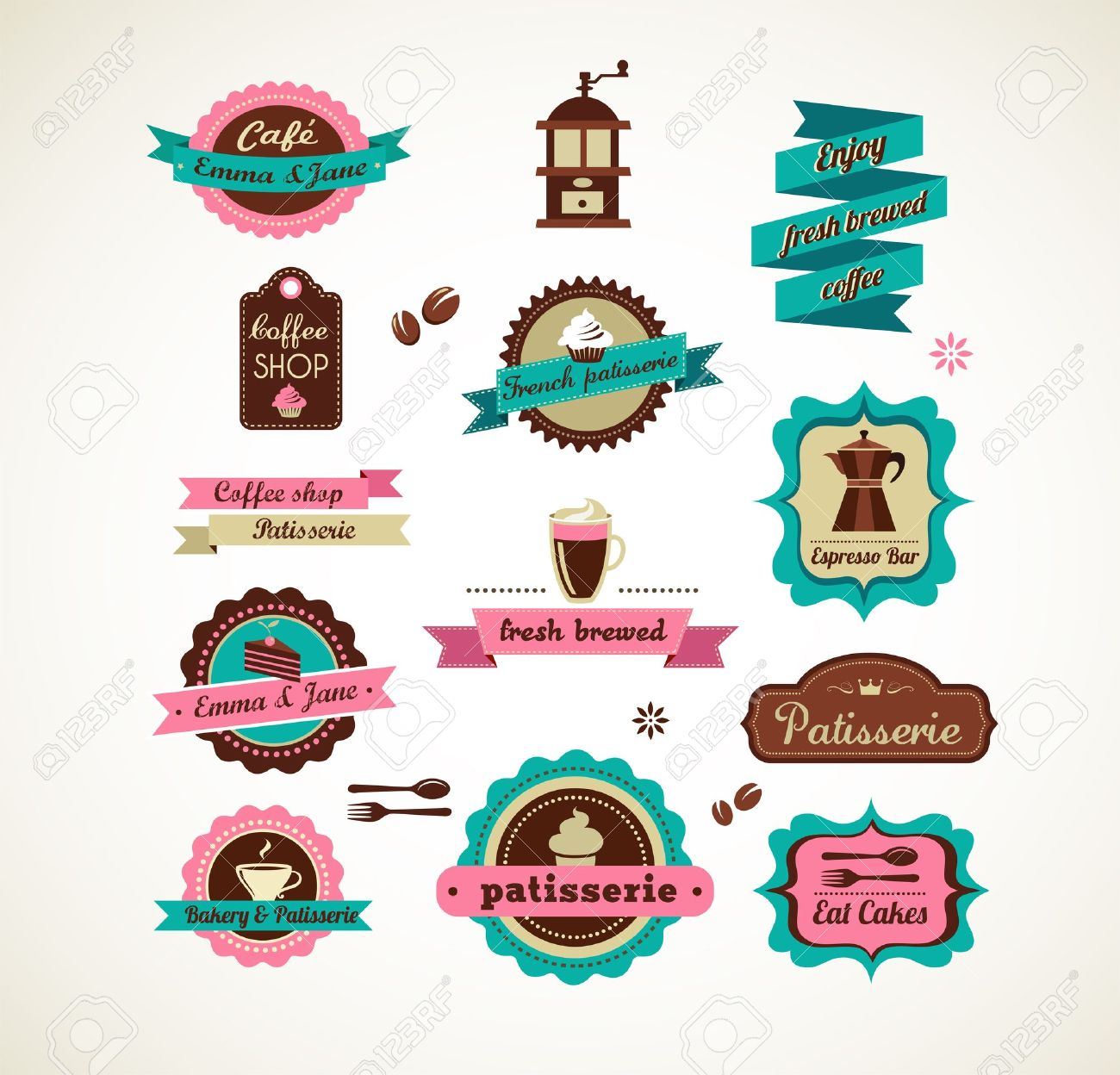 Espresso bar vinatge poster with makineta Stock Vector - 17632636