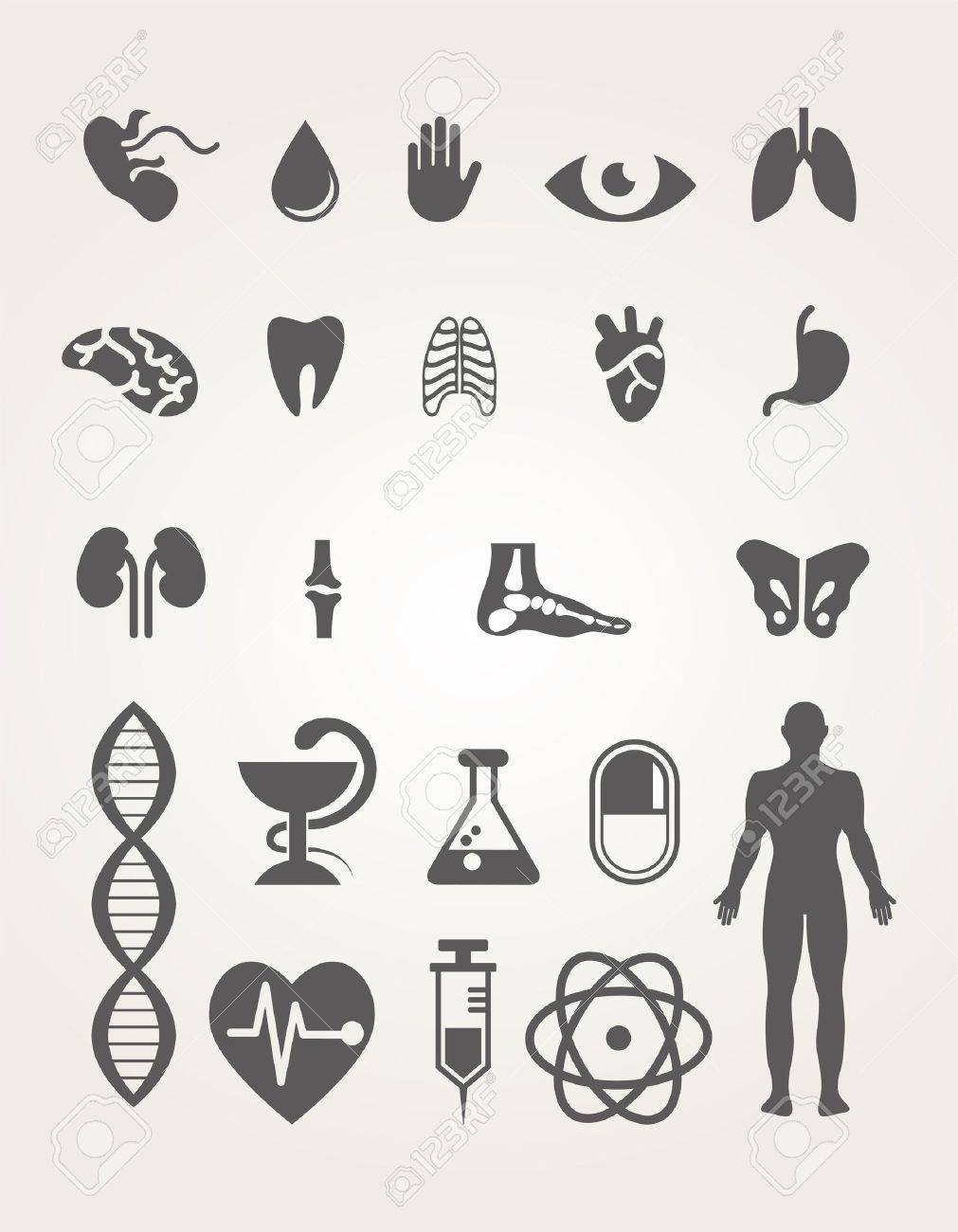 Medical icons set Stock Vector - 18702940