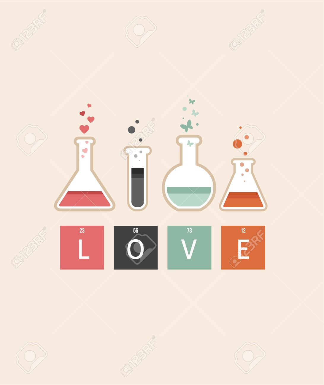 Chemistry Of Love Valentines Day Card Royalty Free Cliparts – Chemistry Valentines Day Card