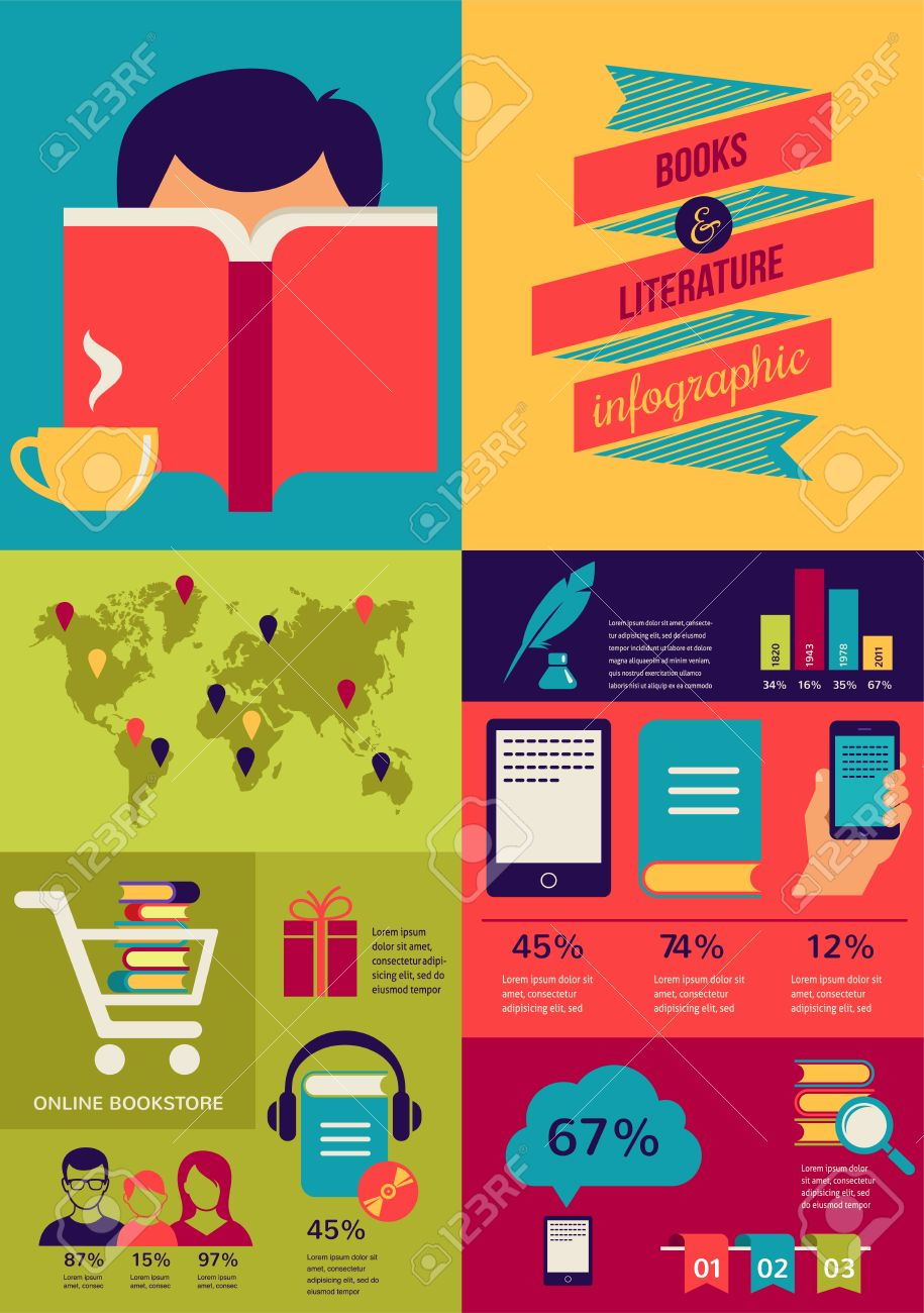 27443291-reading-books-infographics-set-