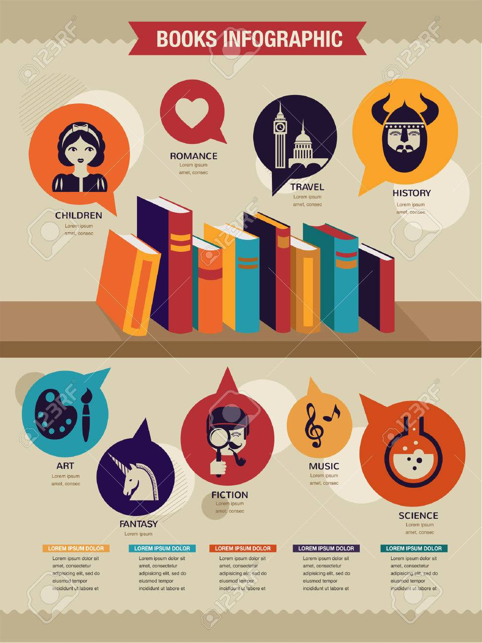 27449418-reading-books-infographics-set-