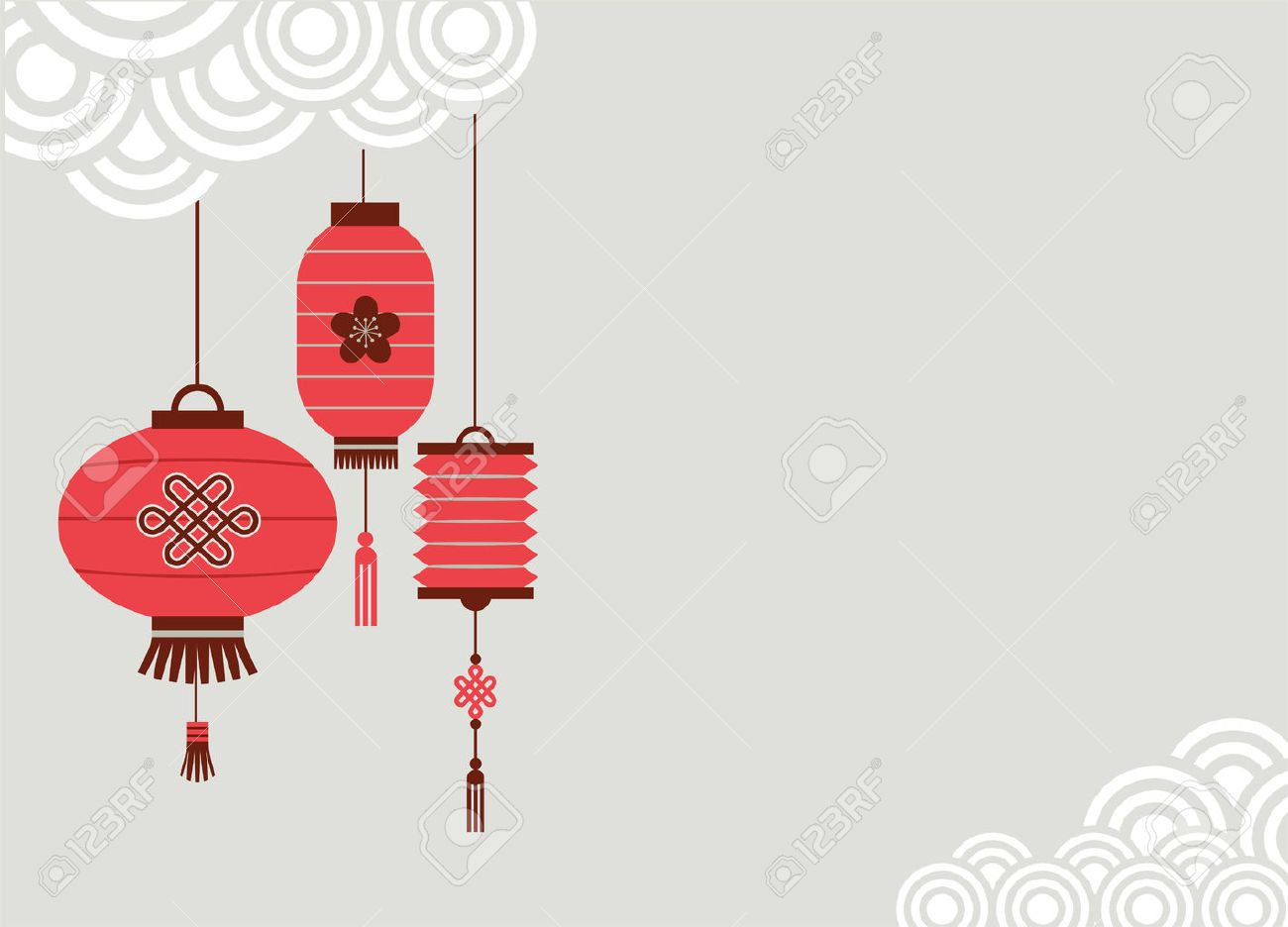 chinese new year background with lanterns vector illustration stock vector 34979679