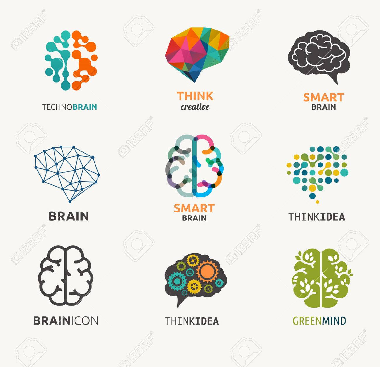 Collection of brain, creation, idea icons and elements - 37675210