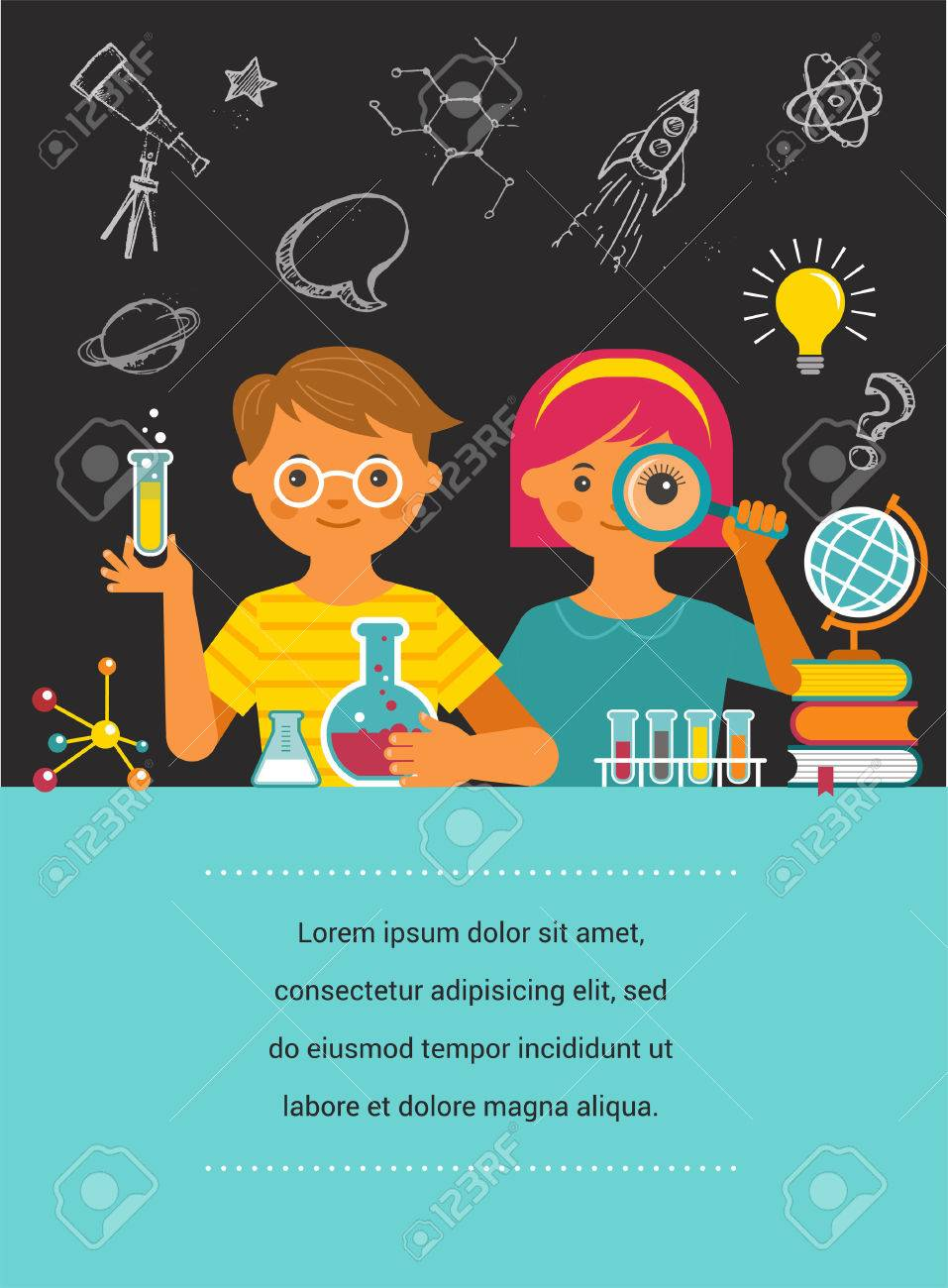 Young Scientist Education Research And School Royalty Free