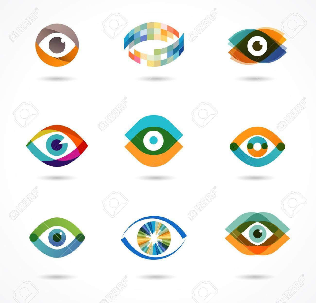 Set of colorful eye icons - 41200899