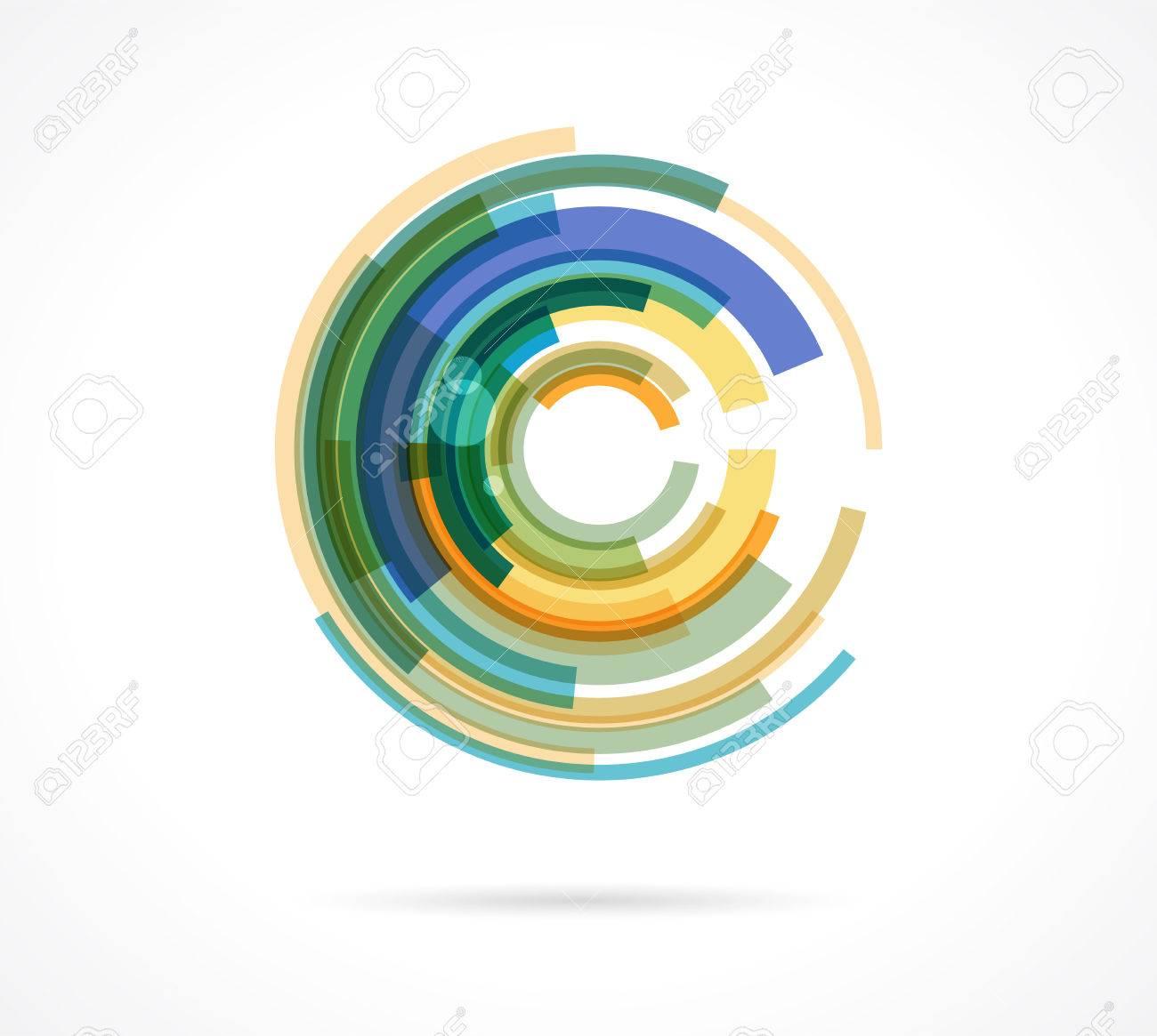 Set of colorful eye icons - 41200954