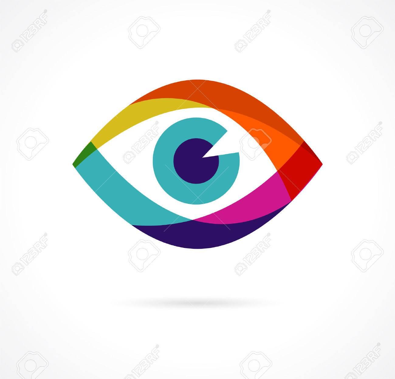 Set of colorful eye icons - 41200956