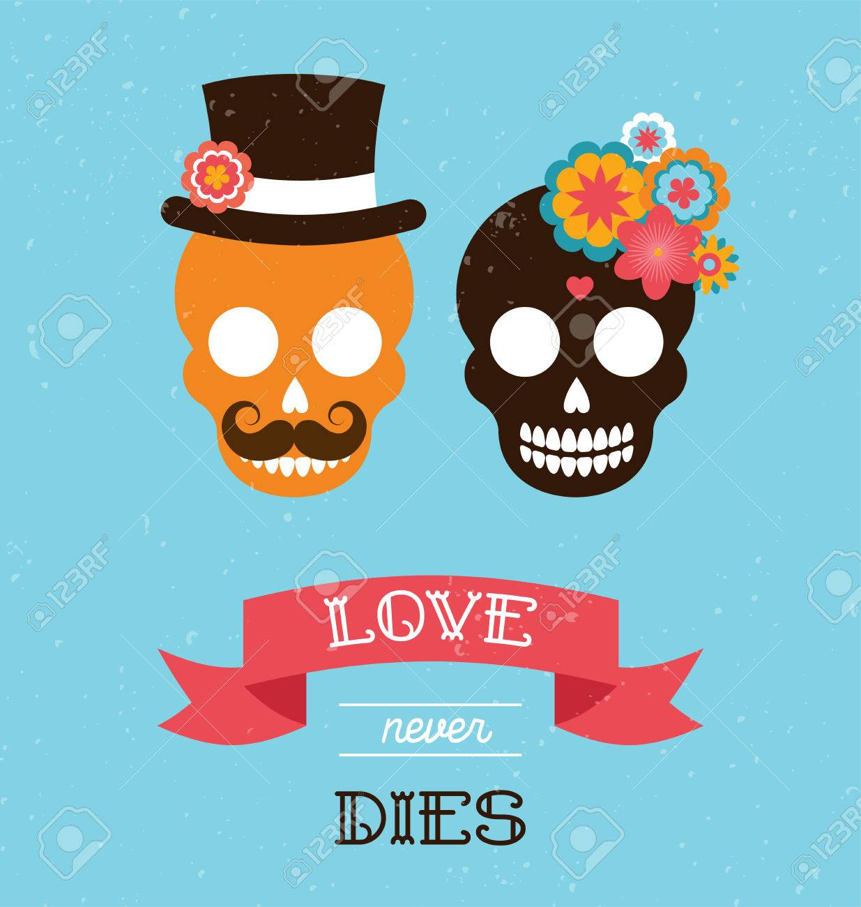 Mexican wedding invitation with two cute hipster skulls royalty free mexican wedding invitation with two cute hipster skulls stock vector 41835680 stopboris Image collections